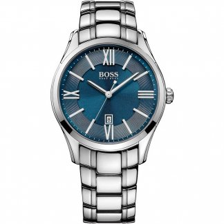 Men's Ambassador Blue Dial Bracelet Watch 1513034