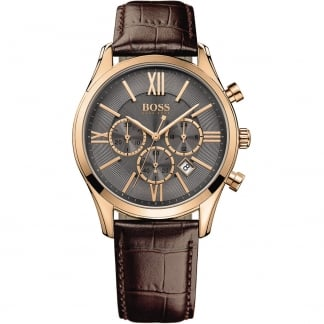 Men's Ambassador Rose Gold Chronograph Watch