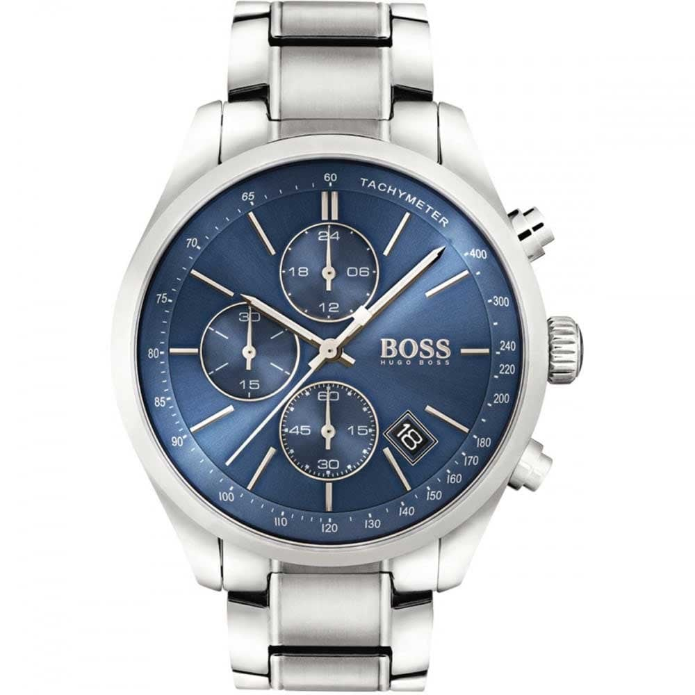 Hugo Boss Men s Blue Dial Grand Prix Chronograph Watch Product Code  1513478 41b87ad33