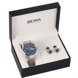 Men's Bracelet Watch & Cufflink Gift Set