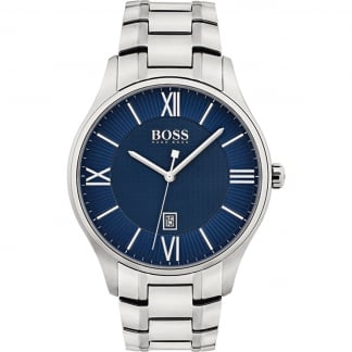 Men's Governor Stainless Steel Blue Dial Watch