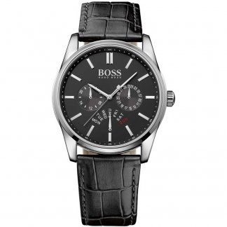 Men's Heritage Black Leather Day/Date Watch