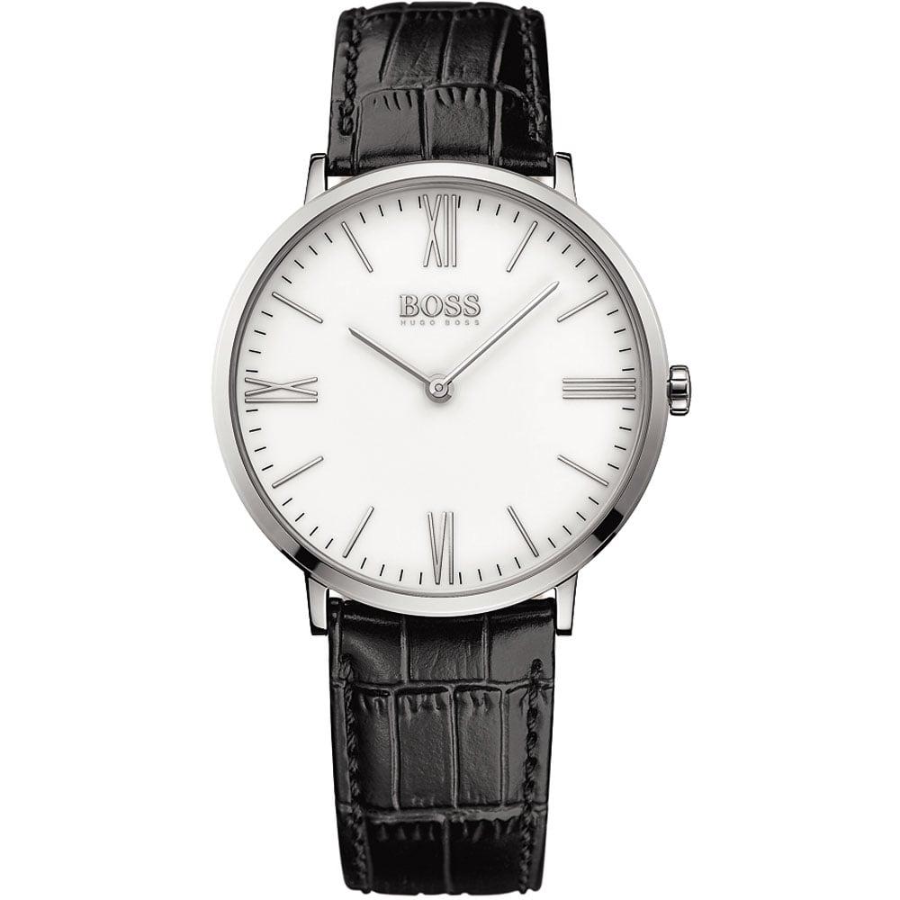 shop men s hugo boss 1513370 watch francis gaye jewellers men 039 s jackson black leather ultra slim watch