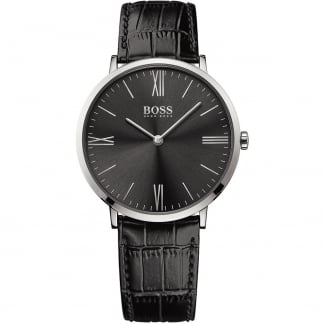 Men's Jackson Ultra Slim Black Strap Watch