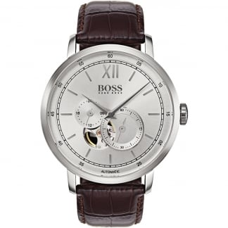 Men's Signature Skeleton Dial Automatic Watch