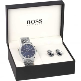 Men's Success Bracelet Watch & Cufflinks Set