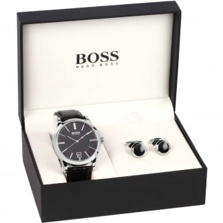 Men's Success Strap Watch & Cufflinks Set 1570044
