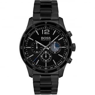 Men's The Professional Black PVD Chronograph Watch