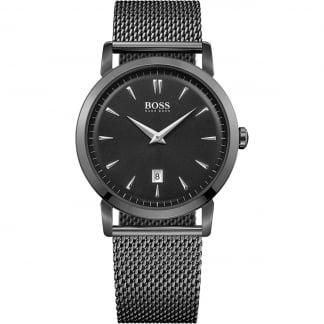 Men's Ultra Slim Black PVD Mesh Bracelet Watch 1513235
