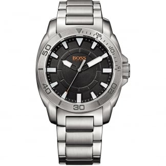 Men's Stainless Steel Watch with Black Dial 1512946