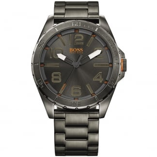 Men's Black PVD Stainless Steel Berlin Watch with Grey Dial
