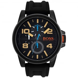 Men's Black Rubber Strap Detroit Watch