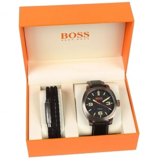 Men's Boss Orange Capetown Watch & Bracelet Giftset