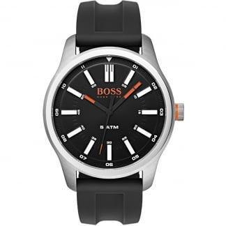 Men's Capetown Black Rubber Strap Watch