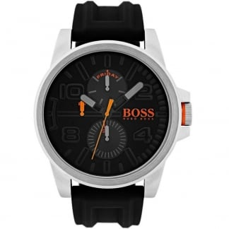 Men's Detroit 51MM Silicone Strap Day-Date Watch 1550006