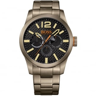 Men's Gun Metal Paris Multifunction Watch
