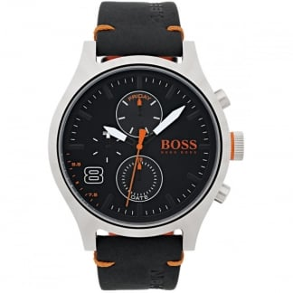 Men's Multi Function Black Strap Amsterdam Watch