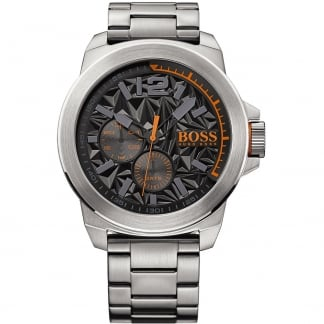 Men's New York 50MM Textured Dial Bracelet Watch