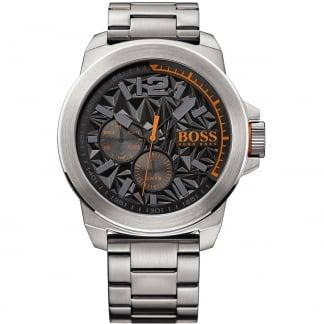 Men's New York 50MM Textured Dial Bracelet Watch 1513406