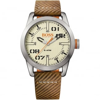 Men's Oslo Tan Leather Cream Dial Watch