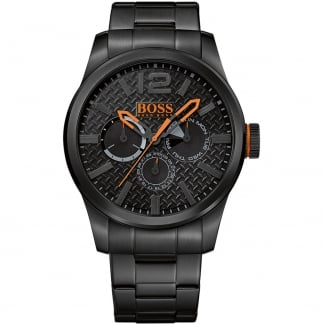 Men's Paris Black PVD Bracelet Multifunction Watch