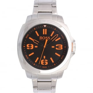 Men's Stainless Steel Watch with Black Dial 1513099