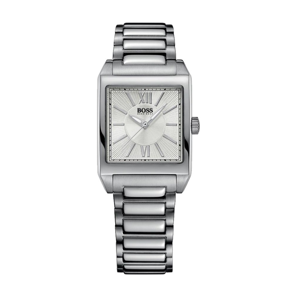 Hugo Boss Ladies Silver Square Dial Watch Watches From Francis