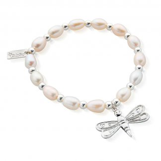 Iconic Fresh Water Pearl Dragonfly Bracelet