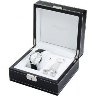 Men's Luxury Watch, Keyring & Cufflink Set LX11