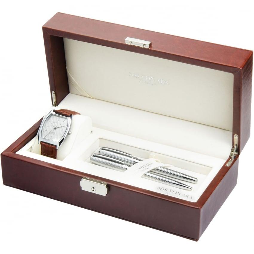 Jos Von Arx Men's Luxury Watch & Pen Set LX10