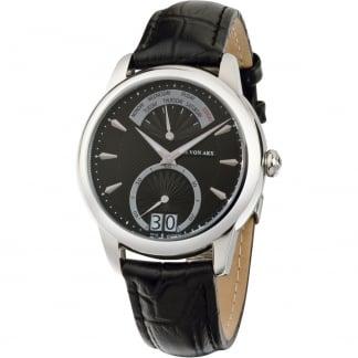 Men's Retrograde Black Dial Swiss Day/Date Watch TS12