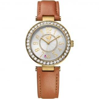 Ladies Brown Leather Strap Cali Watch 1901397