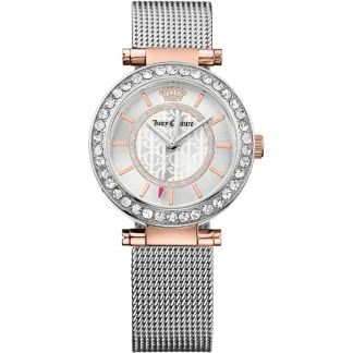 Ladies Cali Crystal Set Mesh Bracelet Watch 1901375