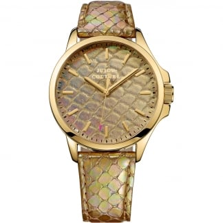 Ladies Gold Snake Skin Effect Jetsetter Watch 1901162