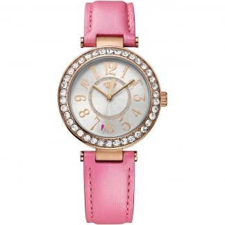 Ladies Pink Leather Strap Cali Watch 1901398
