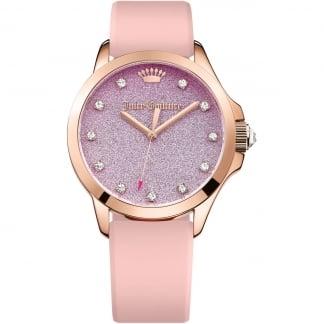 Ladies Pink Strap Purple Dial Jetsetter Watch 1901406
