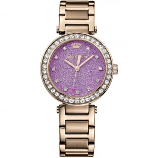 Ladies Rose Gold and Purple Dial Daydreamer Watch 1901329