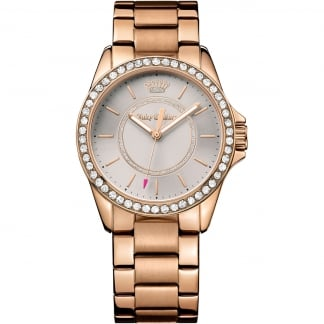 Ladies Rose Gold and Stone Set Laguna Watch 1901410
