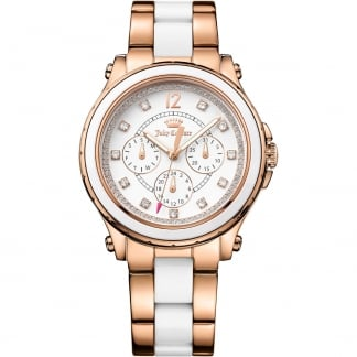 Ladies Rose Gold and White Hollywood Watch 1901303