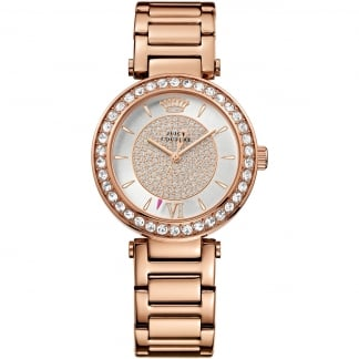 Ladies Rose Gold Stone Set Luxe Couture Watch 1901152