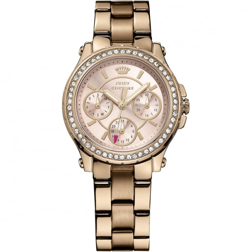 Juicy Couture Ladies Rose Gold Stone Set Pedigree Watch 1901106