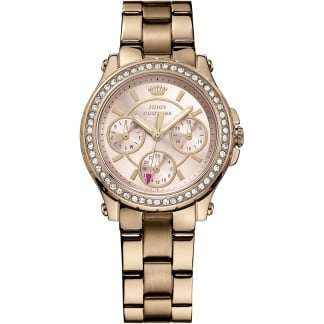 Ladies Rose Gold Stone Set Pedigree Watch 1901106