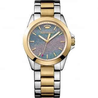 Ladies Two Tone Glitter Dial Malibu Watch 1901286