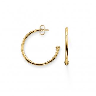 Karma Beads 25mm Gold Hinged Hoops