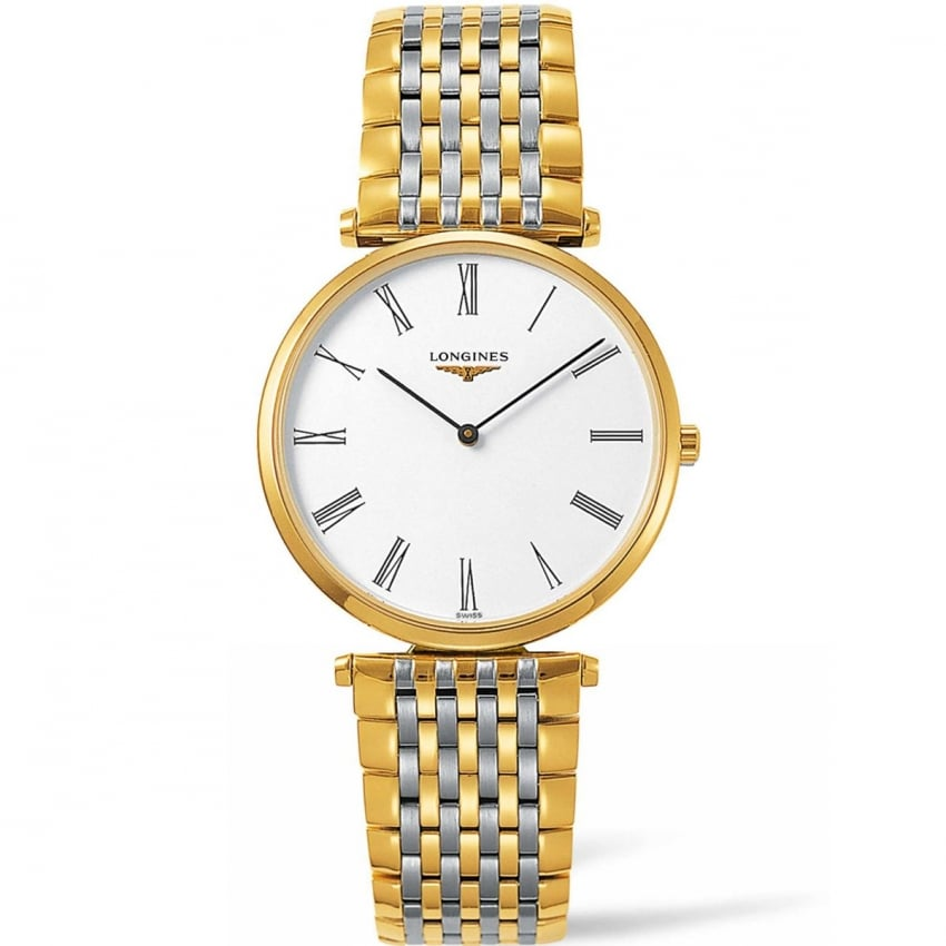 Longines La Grande Classique Men's 36mm Two Tone Quartz Watch L4.755.2.11.7