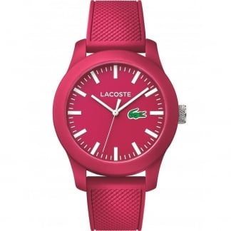 Cerise Pink 12.12 Silicone Strap Watch