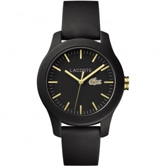Ladies Black 12.12 Silicone Strap Watch