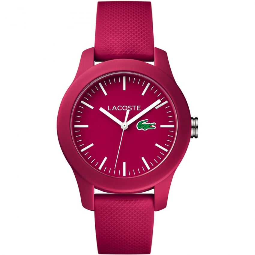 Lacoste Ladies Fuchsia Pink 12.12 Silicone Strap Watch 2000957