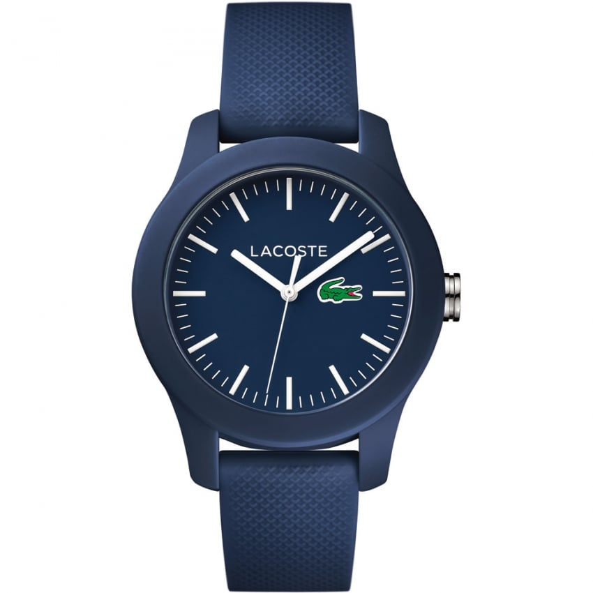 Lacoste Ladies Navy 12.12 Silicone Strap Watch 2000955