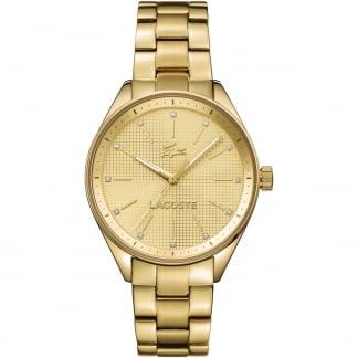 Ladies Philadelphia Gold Tone Stone Set Watch 2000898